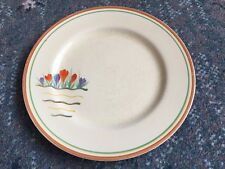Rare Clarice Cliff Crocus Variant Pattern 25.5cm Dinner Plate - 1937
