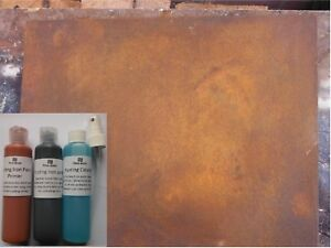Rusting Iron Paint,  Reactive rust effect Paint for arts, crafts and decoration