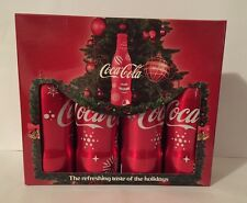 COCA COLA 4 BOTTLES   ALU CHRISTMAS BOX UNITED EMIRATES UE EMPTY