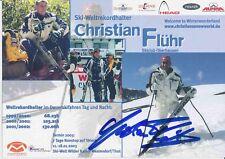 Christian flühr ski alpin freestyle autografiada mapa original firmado 380166