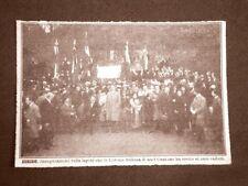 Zurigo nel 1922 Monumento a caduti in guerra eretta da Colonia d'Italia Svizzera