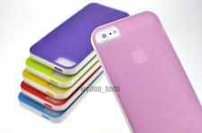For iPhone 5 5S Pastel Color Case Premium TPU Gel Bumper Cover Skin Flexible