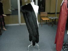 TRIPLE ROW BLACK FOX STOLE FLING BOA SHAWL Shrug Coat