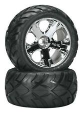 "Traxxas Jato Front Anaconda 2.8"" Tires On All-Star Chrome Wheels (2) 5577R"