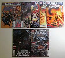 Secret Avengers Lot of 8 #22,24,25,26,27,28,29,30 Marvel 2012 1st Print Comics