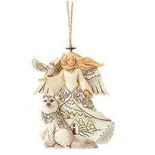 White Woodland Angel (Hanging) von Jim Shore - weißer Engel
