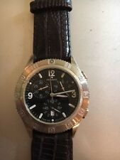 MOVADO F9 GENTRY CHRONOGRAPH WATCH SPARES REPAIR EXCELLENT CONDITION NEW STRAP