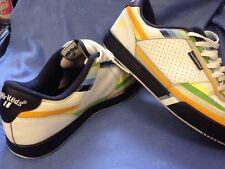 Pro Keds Roca Wear Sneakers Rainbow Color Design White Shoe Size 10 Mens
