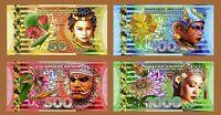 SET Netherlands Indies (Indonesia) 50;100;500;1000 Gulden, 2016 Polymer, UNC