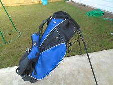 RJ BLACK AND BLUE STAND GOLF BAG - 7 WAY