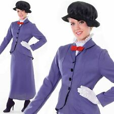 Ladies Womens Adult Victorian Nanny Book Week Day Fancy Dress Costume Outfit