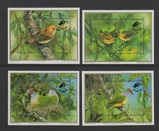Cook Islands - 1990, Endangered Birds, WWF sheets set x 4 +Logo- MNH - SG MS1253