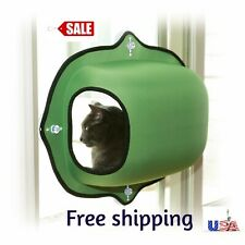 "K&H Pet Products EZ Mount Window Pod Kitty Sill Green 27"" x 20"" CAT BED SUCTION"