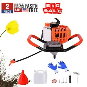 52CC Gasoline One Man Earth Ground 2-Stroke Auger Borer Post Hole Digger Machine