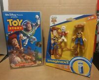 Disney toy story bundle Toy story VHS and Toy Story imaginext woody and forky