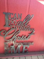 Metal Wall Art Decor Bible Verse Quote Philippians 4:13 Verses