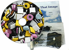 DIY CD Clock KIT. Liquorice Allsorts. Can be used as a Desk or Wall Clock