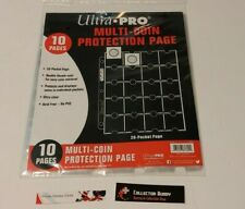 Ultra Pro 10 Pack of 20 Pocket Coin Binder Sheets - Multi Coin Protection Pages