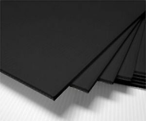"100 pcs 18x24"" Plastic COROPLAST 4mm BLACK Yard CRAFT Sign Board Blank Sheets"