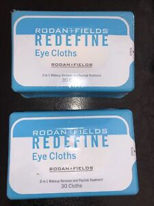 Rodan + Fields Redefine Eye Cloths, Sealed Pack of 30 Cloths Duo/total 60 Wipes