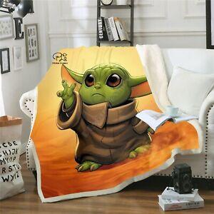 Star Wars Baby Yoda Blanket 3d Print Design For Children Warm Bed Throw