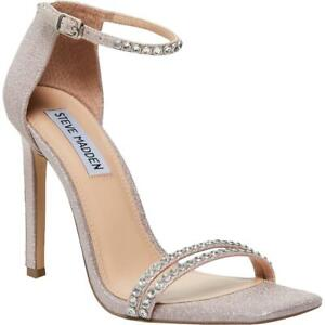 Steve Madden Womens Collette Jeweled Square Toe Evening Heels Shoes BHFO 8019