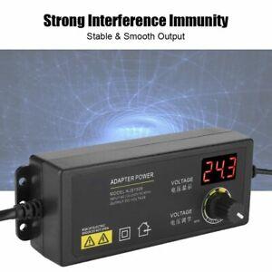 3-36V DC Computer Power Supply Charger Adapter Adjustable Voltage LED Display FY