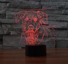 3D Spotted Dog Night Light 7 Color Change LED Desk Lamp Touch Room Decor Gift