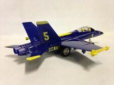"""Set of 6 Diecast 9"""" Model F/a-18 Hornet US Navy Blue Angels Fighter Jet"""