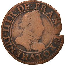 Monnaies, France, Henri III, Double Tournois, 1585, Paris, TB, Cuivre #415818