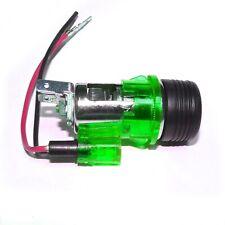 GREEN 12V Cigarette Lighter PLUG & SOCKET SATNAV FOR Car Universal