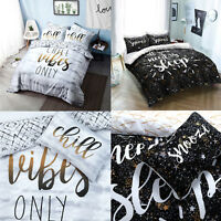 Slogan Duvet Cover Set With Pillow Case King Size Double Single Super Reversible