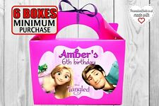 Rapunzel Party Bag. Tangled birthday box. For Favors, fillers, goodies, gift