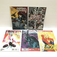 Marvel Comic Book Mixed Lot 5 Comics in Sleeves Captain America Spider Gwen