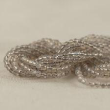 "Grade A Natural Grey Agate Semi-Precious Gemstone Round Beads - 2mm - 15.5"""