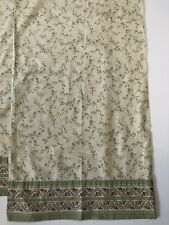 "2 Laura Ashley King Pillowcases Green Cream Pink Leaves Floral Rose 20""x40"""