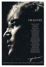 JOHN LENNON - IMAGINE LYRICS - UNUSED POSTCARD - BEATLES - EX CONDITION