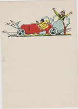 papier a lettre enfant-/en-tête voiture de course-gardienne d'oies et ses oies