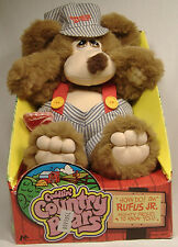 VINTAGE CUDDLIN COUNTRY BEARS  RUFUS JR PLUSH NEW IN BOX MARCHON TOYS 1985 RARE