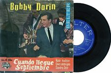 BOBBY DARIN 1962 spanish EP Cuando Llegue Septiembre w/picture sleeve