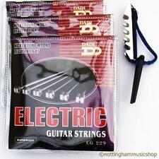 3 Juegos Guitarra Eléctrica Cuerdas + Libre De Palanca Capo Nuevo