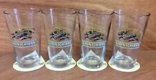 Kirin Ichiban JAPAN Beer 16 oz Pint Glass & Coaster Set (4) Glasses 12 Coasters