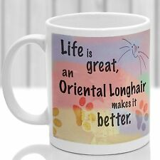 Oriental Longhair cat mug, Oriental Longhair cat gift, ideal for cat lover