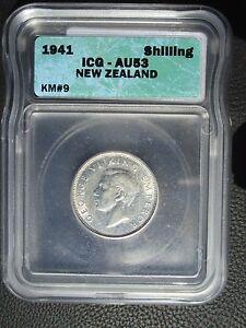 1941 New Zealand Shilling, ICG AU 53