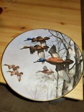 Misty Morning Plate Ducks Taking Flight David Maass