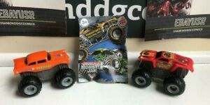 2008 Burger King MONSTER JAM TRUCKS Lot Of 2 (MAX DESTRUCT) (AVENGER) Hot Wheels
