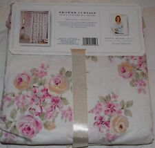 Simply Shabby Chic Blue Pink Flowers Fabric Shower Curtain Rachel Ashwell