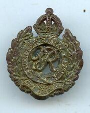Royal Engineers George Vi  WW2 Plastic Bakelite Cap Badge