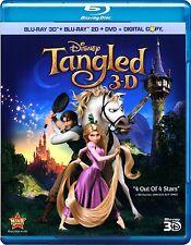 Disney's Tangled (Blu-ray/DVD, 2011, 3-Disc Set; 2D/3D)
