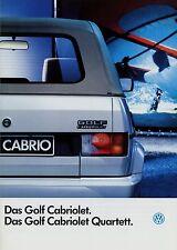 VW Golf Cabriolet Quartett Prospekt 1993 1/93 Autoprospekt brochure brosjyre PKW